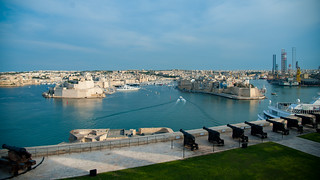 The Port of La Valetta , Malte near Italy
