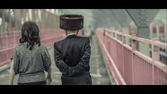Hasidic Jews walk across the Williamsburg Bridge to Manhattan (Nico Geerlings) Tags: jews hasidic cinematic cinematography williamsburg lowereastside manhattan williamsburgbridge nyc ny usa newyorkcity ngimages nicogeerlings nicogeerlingsphotography