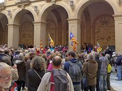 Catalonian flags in Montserrat monastery