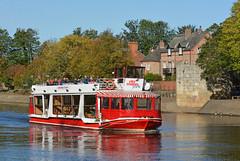 Tower Power (Feversham Media) Tags: riverouse york yorkshire stmarysabbeywalls northyorkshire workingboats valeofyork riverpalace citycruisesyork