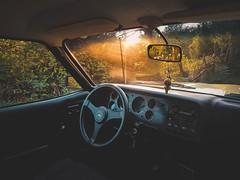 Capri (WeekendPlayer) Tags: sun sunset drive driven goldenhour golden evening autumn car inside dashboard wheel classic classiccar ford capri mk3 fordcapri turkey istanbul road