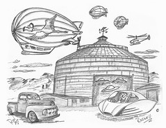 Roswell (rod1691) Tags: bw scifi grey concept custom car retro space hotrod drawing pencil h2 hb original story fantasy funny tale automotive art illistration greyscale moonpies sketch sexy roswell