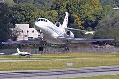 LUG/LSZA: SwissAirForce Dassault Falcon 900EX T-785 (Roland C.) Tags: airport aircraft airplane lugano agno switzerland dassault falcon f900ex t785 swissairforce bizjet businessjet military