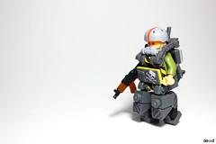Military Trooper X57 (Devid VII) Tags: military crew x57 devid vii mecha moc mech war troopers olive devidvii lego