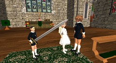 Diary page 21 - Film class (cadeSL) Tags: school lesson sl church secondlife abbey second life acting film movie children pupils students boys girls uniform catholic boarding ireland irish town virtual reality