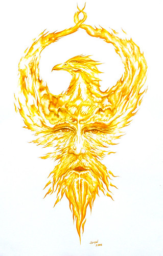 Pheonix-Watercolour