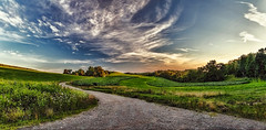 IMG_0234-37PRtzl1scTBbLGER (ultravivid imaging) Tags: ultravividimaging ultra vivid imaging ultravivid colorful canon canon5dmk2 clouds fields farm sunsetclouds scenic evening panoramic pennsylvania pa sky landscape road rural autumn countryscene