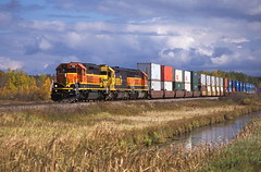 Brainerd Sub. Stack Train (Kevin Madsen) Tags: fall bnsf stack train stacktrain 7161 6456 sd452 gp50 heritage1 sd402