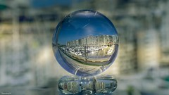 Crystal (YᗩSᗰIᘉᗴ HᗴᘉS +12 000 000 thx❀) Tags: crystal crystalball bouledecristal cristal verre blankenberge blue port haven mer merdunord sea belgium belgique boat bateau ship sailing hensyasmine flandres