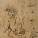 CEZANNE,1872-73 - Cézanne gravant auprès du Docteur Gachet, La Morsure (drawing, dessin, disegno-Louvre RF29925) - Detail 18 thumbnail