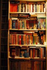 My foreign books shelves... and CDs (Lenaprof) Tags: 7daysofshooting week16 shelfshelves geometrysunday