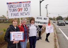 #TurnOff10 (Fotoman364) Tags: protest protestors turnoff10 signs propaganda rhodeisland stoptrump wjar resistance resist sinclair turnofften