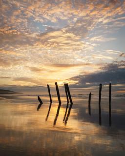 A beautiful sunrise on St Clair beach Dunedin