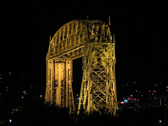 Duluth Lift Bridge (altfelix11) Tags: minnesota duluth bridge liftbridge parkpoint minnesotapoint nightview illuminated duluthliftbridge duluthaerialliftbridge aerialliftbridge