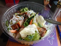 26Oct17 Leftovers for lunch! This is a half (!!) of the salad I picked up yesterday from Bami at Southgate Plaza. It's a Vietnamese Pork salad and SO absolutely yummy I'm hooked on them. Rod and I had the other half for lunch yesterday and I pigged out on