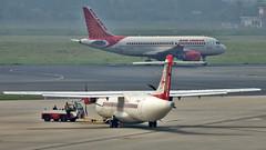 Air India Regional ATR72 VT-AIU New Delhi (DEL/VIDP) (Aiel) Tags: airindia airindiaregional allianceair aerospatiale atr atr72 vtaiu newdelhi delhi canon60d tamron70300vc