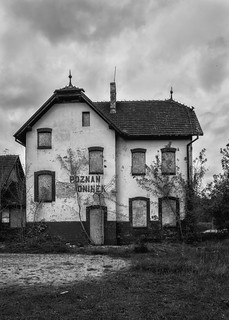 Abandoned railway station Poznan - Antoninek (ad. 1910)