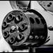 B&W Close-Up On The A-10 Warthog's 30mm Gatling Gun