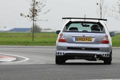 Not quite standard! (supersev41) Tags: trackday bedfordautodrome bedford silver car track ep3 civic honda
