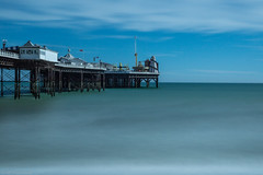 Pier (Anthony P26) Tags: architecture brighton brightonpier category eastsussex england external places seascape travel longexposure blur cloudblur waterblur waves structure architecturephotography travelphotography landscapephotography theenglishchannel sea sky bluesky whiteclouds canon1585mm canon70d canon outdoor pier water bay seaside coast coastal beach