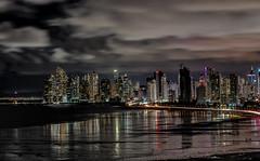 Panama City, Panama (Bernai Velarde-Light Seeker) Tags: panama city urban centralamerica centroamerica ciudaddepanama longexposure exposicionlarga sea mar ocean oceano pacific pacifico buildings apartments edificios apatamentos cloudy nublado noche night