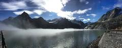 Damm in Swiss Mountains / Staudamm Albigna See (Anselm11) Tags: swissmountains bergell albigna fog mist nebel staudamm damm alpen