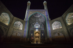 shah mosque, esfahan, iran (Tina Grdić) Tags: mosque isfahan esfahan iran islam middleeast sonyalpha7ii minolta1735f284 nightscape asianight travel colors blue culture heritage shahmosque 35mm architecture unesco tiles caligraphy مسجد شاه safavid naqshejahansquare silkroad minarets allah religious religion prayer calligraphy arabic ايران persia