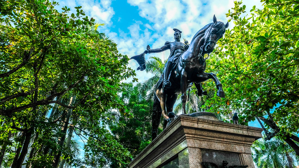 Plaza de Bolivar, equestrian statue of S by sergejf, on Flickr