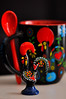 """Day 292/365 - """"Chickens"""" (Little_squirrel) Tags: 365the2017edition 3652017 day292365 19oct17 chickens chicken cock portugal portuguese contrast colorful bright portrait red blackandred souvenirs europe cup figure love heart memento journey macro"""