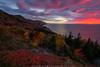 Cabot Trail Sunset (Adam Woodworth) Tags: autumn cabottrail capebreton capebretonhighlandsnationalpark cliffs fall headlands highway novascotia ocean road seacoast sunset