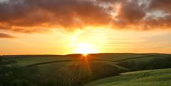 Sun UP (Andy.Gocher) Tags: andygocher canon100d canon100dsigma18250 europe uk wales westwales southwales pembrokeshire coastalpath landscape sunrise clouds sunburst