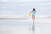 (Rebecca812) Tags: girl child pigtails skip beach reflection pastel waves ocean sky bucket sweet innocent carefree freedom people rearview rebecca812