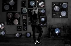 Cosmic (marksmorton) Tags: girl star stars love cosmic galaxy black white contrast blackandwhite candid photography nikon space planet planets art