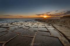 Sunrise at the Salt Pans (glank27) Tags: salt pans marsascala malta mediterranean landscape karl glanville canon eos 5d mk iv ef 1635mm f4l is usm sun burst hdr sunrise seascape ngc haida gnd saltpans