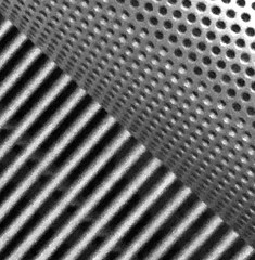 50 50 Impromptu     copyright©2017r hahs All rights reserved (rhahs) Tags: impromptu 5050 ©rhahs black white bw blackandwhite abstract ny us mono art rhahs diagonal metal geometry gray square macro pattern geometric lines circles