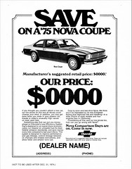 1975 Chevrolet Nova Coupe (aldenjewell) Tags: 1975 chevrolet nova coupe sample ad chevy