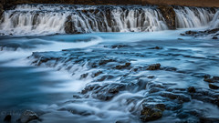 Blue waterfall (Mika Laitinen) Tags: bruarfoss canon5dmarkiv europe iceland leefilters landscape longexposure nature outdoors river rock water waterfall