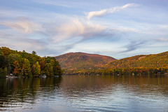 Lake Dunmore (skybluerenee) Tags: vermont foliage fall autumn lake travel nature trees reflection water sky goldenhour