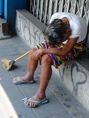 The dejected. (gerrypopplestone) Tags: khlongtoei bangkok thailand dejection poverty isolation minimumwage