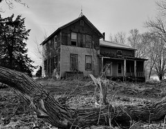 half done=all done.... (BillsExplorations) Tags: abandoned abandonedillinois abandonedhouse farmhouse half decay ruraldecay ruraldeterioration rural old rustic forgotten discarded neglect tree blackandwhite monochrome princetonil