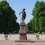 The monument of the Emperor Paul I in front of the Gatchina palace
