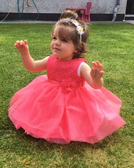 """My dentist said I need a crown.         """"I know right?!!"""" 👑👑 (staceygallagher2) Tags: photography summer birthday firstbirthday dreams magic cute baby pink dress princess"""