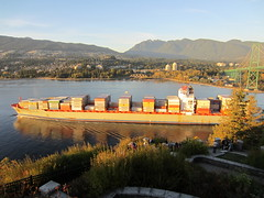 IMG_4110 Container ship Herma P passing Prospect Point (vancouverbyte) Tags: vancouver vancouverbc vancouvercity hermap