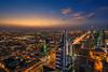 Riyadh Skyline from the Globe (IzTheViz) Tags: saudi riyadh theglobe alfaisaliah skyline sunset a7r sony variotessartfe41635