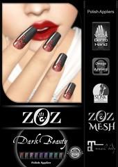 {ZOZ} Dark Beauty pix L (Zoz icon) Tags: zoz zozicon {zoz} applier mesh meshnails mani manicure pedi pedicure frenchtip french beach ocean starfish slocca original slink maitreya omega vista vistabento