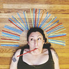 Last Straw / 268.365 (sadandbeautiful (Sarah)) Tags: me woman female self selfportrait 365daysx8 365days day268 straws