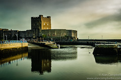 Carrickfergus Castle Reflections (Alan RW Campbell) Tags: photo castle imagesofireland normandy carrickferguscastle water reflections moody boats picturesofireland xt2 1855 old fujixt2 photography fuji northernireland 1855f28 ancient carrickfergus carrickfergushatbour reflection