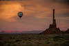 Hot Air Balloon in Monument Valley, AZ (1mpl) Tags: canoneos20d arizona monumentvalley navajonation hotairballoons clouds rockformations travelphotography