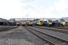The 9 Legends @ Old Oak Common Depot (ianjpoole) Tags: great western railway steam rail motor srm93 6000 king class 6023 edward 2nd 4900 hall 7903 foremarke 42 warship d821 greyhound 52 d1015 champion 50 hoover 50031 ark royal 43 hst power car 43002 kenneth grange 180 adelante 180102 800 800003 queen victoria elizabeth old oak common open day 2017