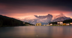A Magical Lake (Croosterpix) Tags: lake morning alps dolomiti water longexposure sky clouds colors sony a7r nikkor1835 nisi travel